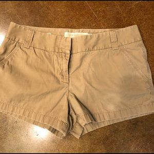 J Crew Chino Khaki Shorts - VGUC size 8